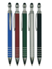 New Design Hot Selling Rubber Finish Stylus Metal Ballpoint Pen