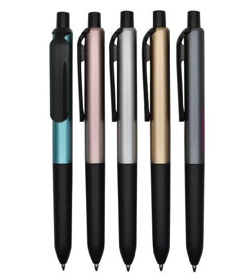 Click Plastic Ball Pen with Customized Logo for Business Supply